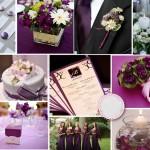 Décoration de mariage violette