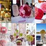 Décoration de table : les boules de fleurs