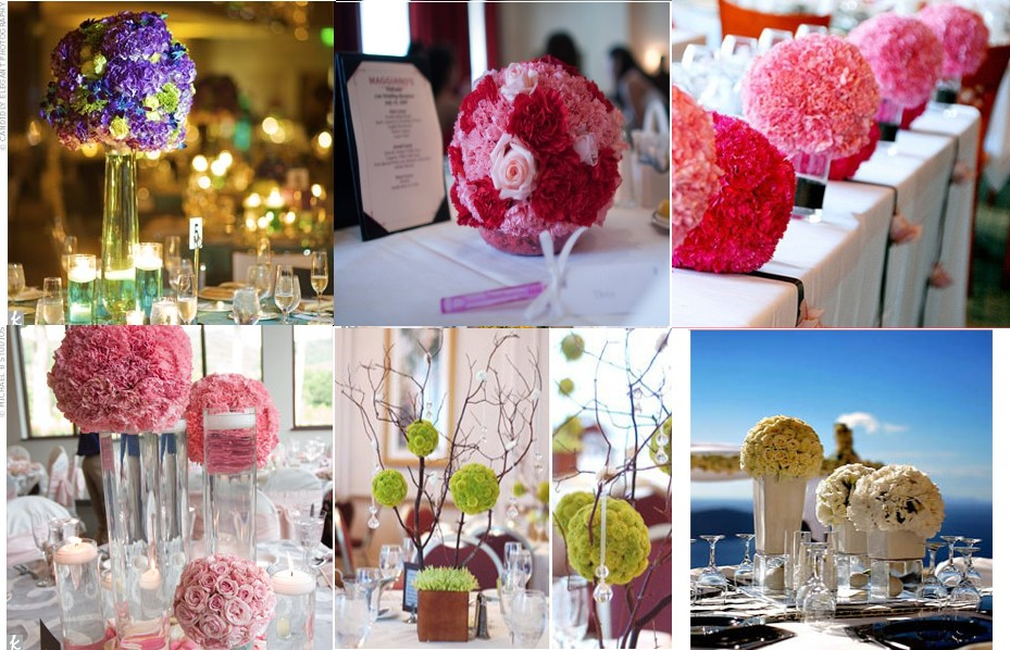 Decoration De Table Les Boules De Fleurs Mariage You